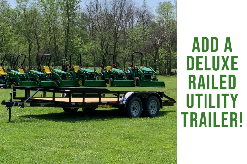 16 Foot Deluxe Railed Utility Trailer